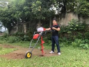 Máy Khoan đất trồng cây Yikito TU45 có bánh xe